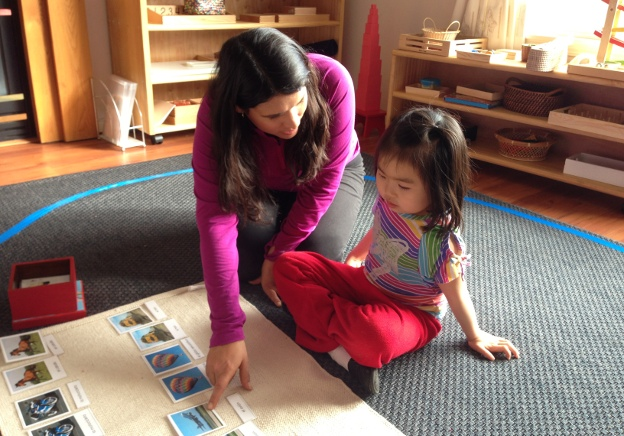 Learning Spanish with Montessori Materials
